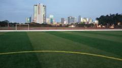 Indosport - Lapangan Aldiron, tempat latihan Persija yang baru