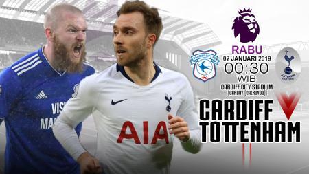 Susunan Pemain Pertandingan Cardiff City vs Tottenham Hotspur - INDOSPORT
