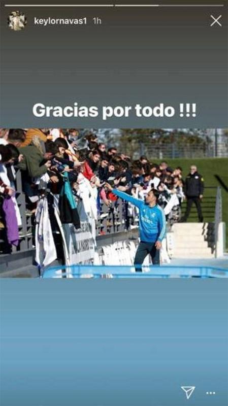 Keylor Navas ucapkan terima kasih kepada fans Copyright: Instagram/Keylornavas1