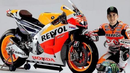 Pembalap dari tim Repsol Honda, Jorge Lorenzo resmi pensiun dari dunia MotoGP. - INDOSPORT