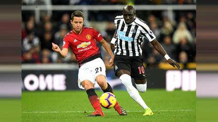 Newcastle United vs Manchester United. - INDOSPORT