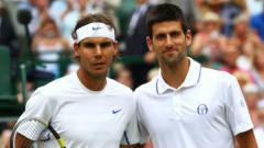 Indosport - Rafael Nadal dan Novak Djokovic.