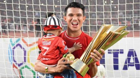 Sandi Sute juara Liga 1 bersama Persija Jakarta. - INDOSPORT