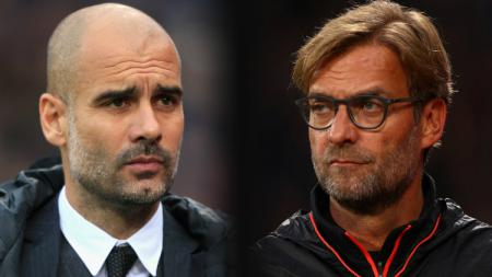 Pep Guardiola vs Jurgen Klopp - INDOSPORT