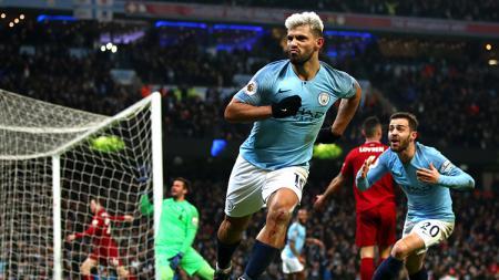 Manajer Manchester United Ole Gunnar Solskjaer didorong ikuti jejak Sir Alex Ferguson memboyong pemain rival dengan membajak Sergio Aguero dari Manchester City. - INDOSPORT