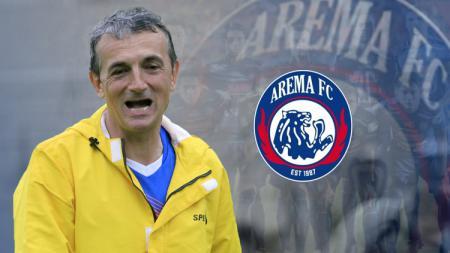 Pelatih Arema FC, Milomir Seslija menyebut Cristiano Ronaldo sebagai striker idamannya. - INDOSPORT