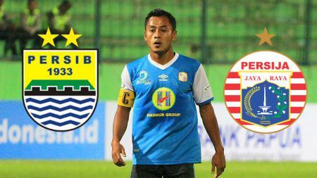Samsul Arif Persib Bandung dan Persija Jakarta. - INDOSPORT