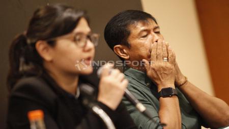 Jumpa Pers PSSI dan Indra Sjafri Terkait Timnas U-22. - INDOSPORT