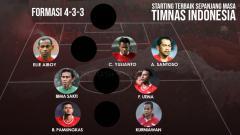 Indosport - Starting Terbaik Sepanjang masa Timnas Indonesia
