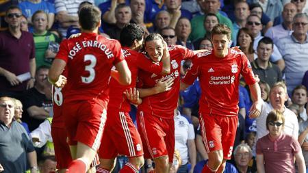 Selebrasi para pemain Liverpool. - INDOSPORT