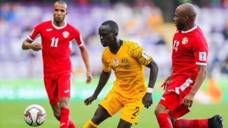 Laga grup B Piala Asia 2019 Australia vs Jordania. - INDOSPORT