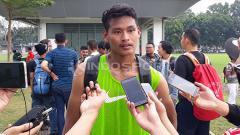 Indosport - Pemain Timnas U-22, Septian Satria Bagaskara (Persik Kediri)