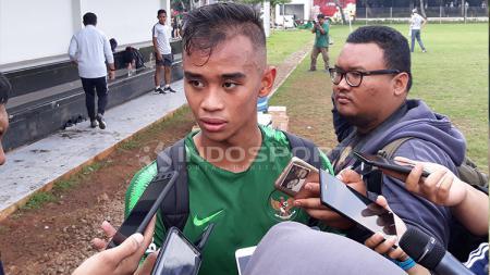 Dallen Doke saat mengikuti TC Timnas U-22 di Jakarta beberapa waktu lalu. - INDOSPORT