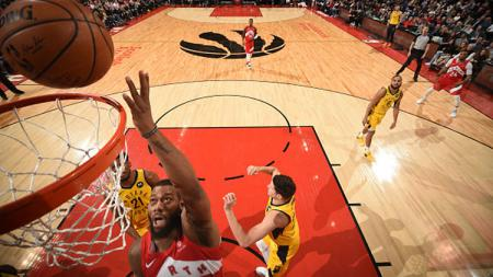 Duel pertandingan NBA antara Toronto Raptors vs Indiana Pacers. - INDOSPORT