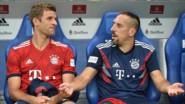 Thomas Muller dan Franck Ribery Copyright: beIN Sports