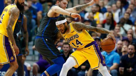 LA Lakers memenangkan pertandingan melawan Dallas Maverick dengan skor 107-97, Selasa (08/01/19) - INDOSPORT