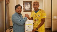 Indosport - Ahmad Mahrus Bachtiar resmi bergabung PS Barito Putera.