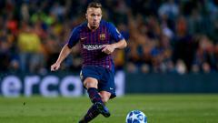 Indosport - Arthur Melo, pemain Barcelona.