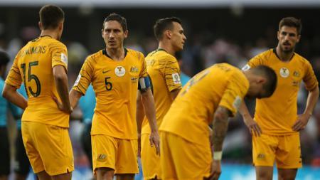Skuat Australia saat melawan Yordania. - INDOSPORT