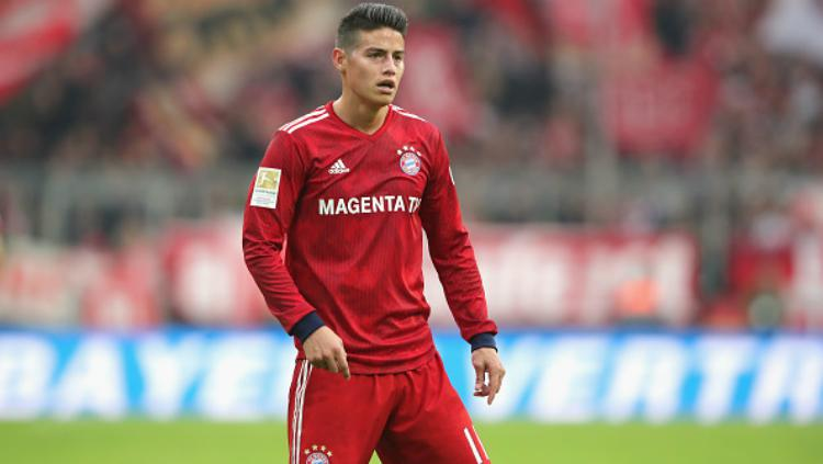 Pemain Bayern Munchen, James Rodriguez. Copyright: INDOSPORT