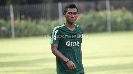 Pemain asal Persija Jakarta di Timnas Indonesia U-22, Anan Lestaluhu. - INDOSPORT