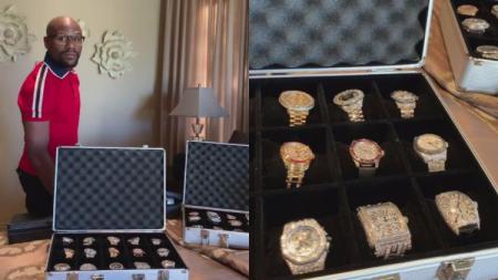 Mayweather pamer koleksi jam tangan mewah - INDOSPORT