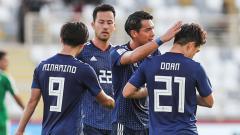 Indosport - Timnas Jepang akan berlaga di perempat final sepak bola putra Olimpiade Tokyo 2020.
