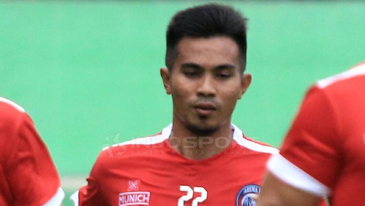 Rachmat Latief saat jalani latihan bersama Arema FC Copyright: Ian Setiawan/INDOSPORT