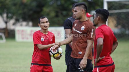 Sayap lincah Persija, Riko Simanjuntak sudah ikut berlatih dengan rekan-rekannya. - INDOSPORT