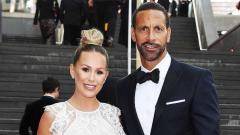 Indosport - Rio Ferdinand dan Kate Wright.