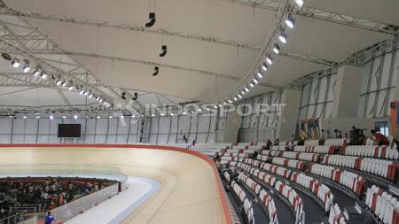 Jakarta International Velodrome (JIV) yang berlokasi di Rawamangun, Jakarta Timur disebut sebagai velodrome terbaik se-Asia Tenggara. - INDOSPORT