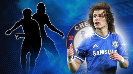 Pemain Chelsea, David Luiz. - INDOSPORT