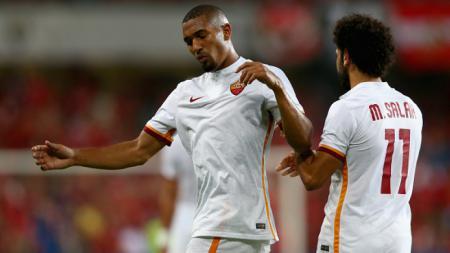 William Vainqueur (kiri) saat membela AS Roma bersama Mohamed Salah - INDOSPORT