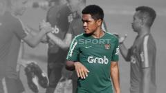 Indosport - Billy Paji Keraf jalani latihan bersama Timnas Indonesia U-22