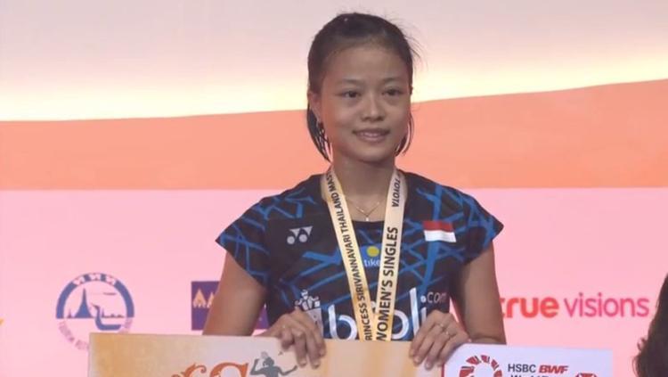 Fitriani menjadi juara tunggal putri di Thailand Masters 2019. Copyright: BWF