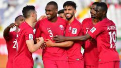 Indosport - Timnas Qatar selebrasi atas gol ke gawang Korea Utara di Piala Asia 2019.