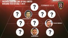 Indosport - Prediksi Starting Line Up Bali United Bersama Teco di Liga 1 2019