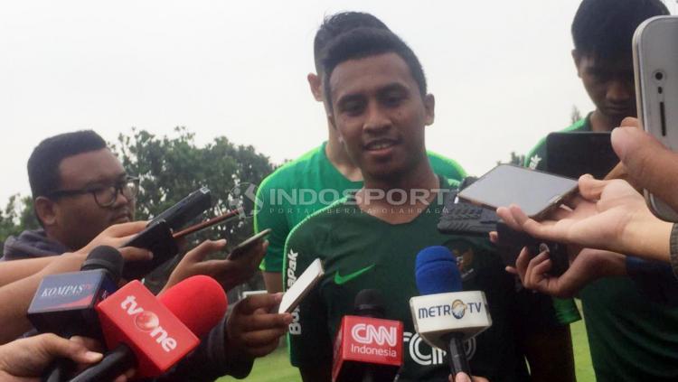 Pelatih Timnas Indonesia U-22, Syafril Lestaluhu. Copyright: Petrus Manus DaYerimon/Indosport.com