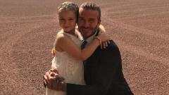 Indosport - Beckham dan putri semata wayangnya