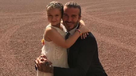 Beckham dan putri semata wayangnya - INDOSPORT