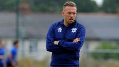 Indosport - Craig Bellamy di sesi latihan Cardiff City U-18.