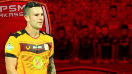 Aaron Evans resmi gabung PSM Makassar - INDOSPORT