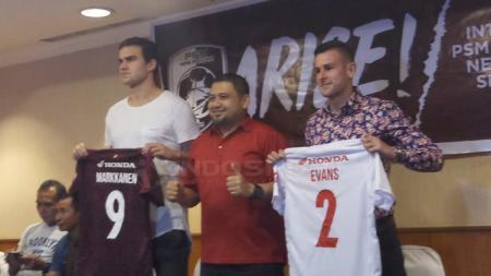 Eero Markkanen dan Aaron Evans resmi diperkenalkan PSM Makassar - INDOSPORT