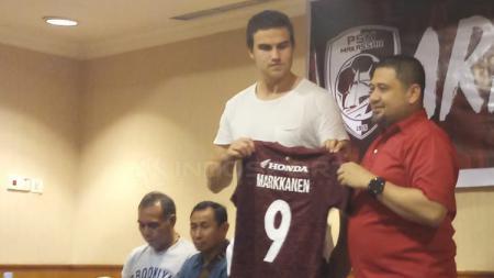 Final Piala Indonesia 2018/19 rupanya masih terngiang diingatan mantan penyerang asing PSM Makassar asal Finlandia, Eero Pekka Sakari Markkanen. - INDOSPORT