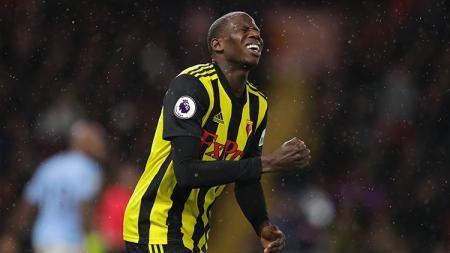Abdoulaye Doucoure, gelandang bertahan Watford. - INDOSPORT
