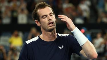 Andy Murray lesu setelah dikalahkan Roberto Bautista Agut - INDOSPORT
