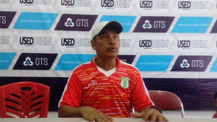 Pelatih PSMS Medan, Abdul Rahman Gurning. Copyright: matatelinga.com