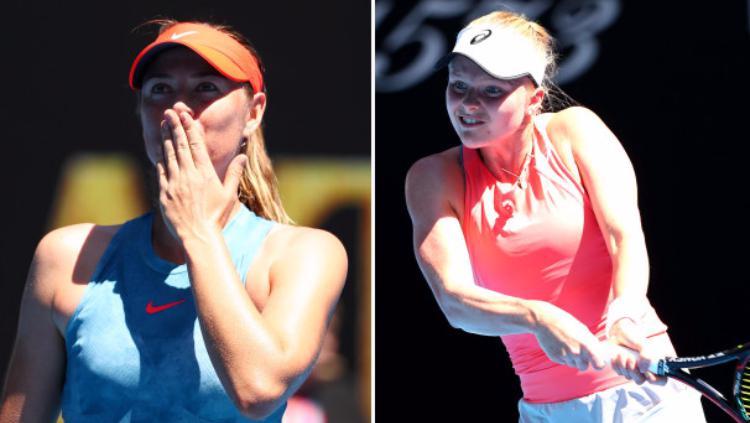 Maria Sharapova vs Harriet Dart Copyright: Getty Images