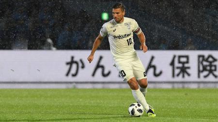 Lukas Podolski, pemain Vissel Kobe. - INDOSPORT