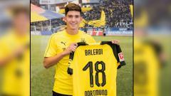 Indosport - Leonardo Balerdi, pemain baru Borussia Dortmund.